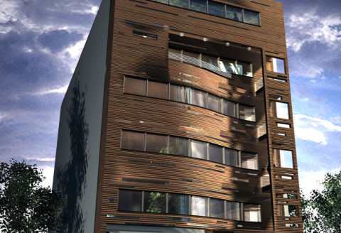 residential interior design facade rendering