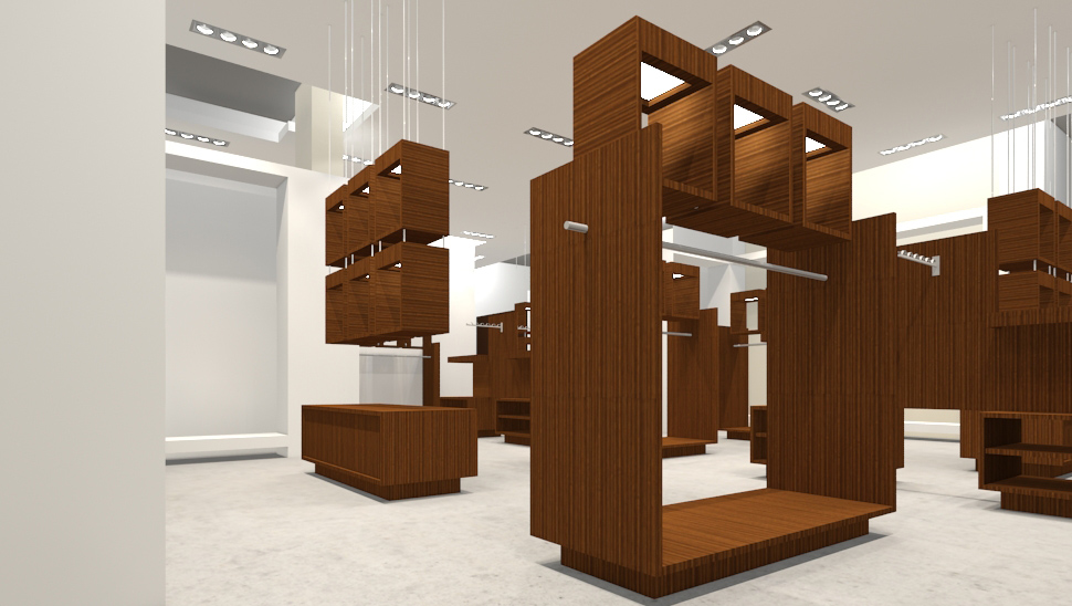 Importance of retail interior design lighting for Retail interior design